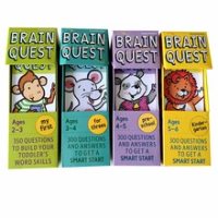 4 boxes/set Brain Quest English intellectual develop card books questions and answers card smart start Child kids education