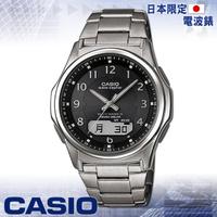 【CASIO 卡西歐】日系_太陽能_電波時計雙顯男錶(WVA-M630TDE 黑)