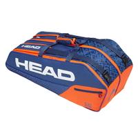 【H.Y SPORT】HEAD Core Combi 6支裝球拍袋(羽球/網球/壁球可用)-藍橘/紅黑 283519