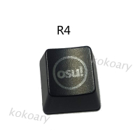 Kok Abs 背光 Osu 鍵帽, 用於 Cherry 鍵盤背光機械鍵盤鍵帽