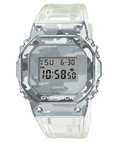 【CASIO卡西歐】G-SHOCK 冰酷迷彩 不鏽鋼錶圈 半透明錶款 (GM-5600SCM-1)
