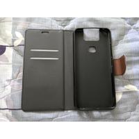 華碩Asus ZenFone 6(ZS630KL) 手機皮套(黑棕色/二手無盒裝)