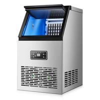 新北現貨 訂製110V製冰機全自動商用制冰機家用小型奶茶店酒吧臺式桶裝水方冰塊機 臺灣專用(GK60主圖款)【免運】