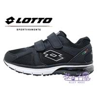 LOTTO樂得-義大利第一品牌 男款DELL 氣墊健走鞋 [0860] 黑【巷子屋】