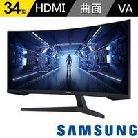 【SAMSUNG 三星】Odyssey G5 34型 2K 1000R曲面電競顯示器(C34G55TWWC)
