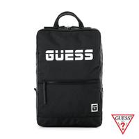 【GUESS】男包-個性LOGO字母後背包-黑(PO723698BLA)