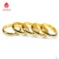 AGOLD | แหวนทองคำแท้ 96.5% น้ำหนัก 0.6 กรัม