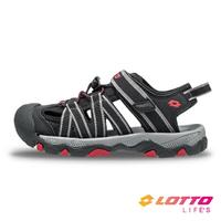 LOTTO樂得-義大利第一品牌 童款輕量護趾涼鞋 [LT1AKS3320] 黑【巷子屋】