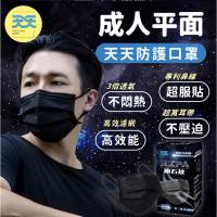 《 天天 》HEPA 成人平面醫療口罩 隕石黑 黑色 台灣製 雙鋼印 康匠 盒裝 30入 天天口罩 透氣 賣場還有中衛