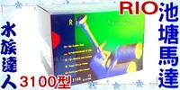 【水族達人】台灣製造Rio《池塘馬達.3100型》池塘噴泉馬達組/噴水過濾造景組合 超美!