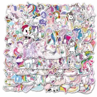 10/30/50PCS การ์ตูน Rainbow Unicorn ของเล่นเด็กกระเป๋าเดินทางกระเป๋าเดินทางแล็ปท็อปโทรศัพท์มือถือตกแต่ง ...