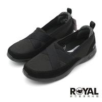 Skechers ARCH FIT 全黑 寬楦 鬆緊 娃娃鞋 女款 NO.J1032【新竹皇家 104270W-BBK】