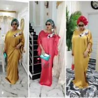 HGTE Longgar Panjang 150Cm Afrika Gaun untuk Wanita Afrika Pakaian Muslim Long Dress Dashiki Abaya Gaun Afrika untuk Wanita