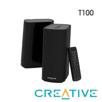 【Creative】T100 Hi-Fi 2.0 桌面二件式喇叭