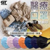 【冠廷】時尚醫療用口罩 雙鋼印 台灣製 50片/盒(99%過濾防護|專利耳掛|無痛感|醫用口罩|4色可選)