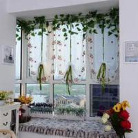 1Pc รูปแบบสตรอเบอร์รี่ผ้าม่าน (100ซม.X 80ซม.) ดอกไม้ Tulle ผลิตภัณฑ์สำเร็จรูปคุณภาพหน้าจอหน้าต่างผ้าม...