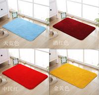 地毯/地墊!!純色衛生間門口防滑吸水地墊 金黃色門廳入戶墊子定製客廳大地毯