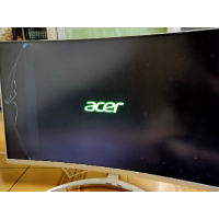 acer ed273 lcd 27吋 電腦螢幕 電視 右側 6/10破裂 還可用 保固內 含 電源線