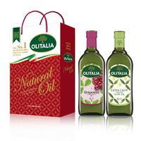(老爹特惠)【奧利塔olitalia】1000ML精緻橄欖油+葡萄籽油(2瓶禮盒組)A240007_A210004