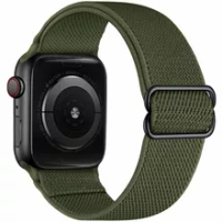 ไนลอนยืดหยุ่น Solo Loop สำหรับ Apple นาฬิกา44มม.40มม.38มม.42มม.สร้อยข้อมือ IWatch series 3 4 5 6 Se สายรัดข้อมือ