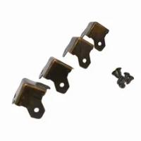 Bronze Vintage กล่องป้องกันมุมสามเหลี่ยมกล่องโลหะตกแต่งขอบ Safety Guard สำหรับตารางกระเป๋าเดินทางตู้ Trunk-24Pcs