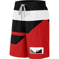 Nike As M Flight Short [BV9413-658] 男 短褲 運動 休閒 籃球 撞色 拼接 黑紅白