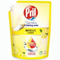 Pril 淨麗小蘇打高效洗碗精 檸檬 補充包 1L