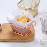 創意餐具薯條籃子炸雞小吃籃 炸籃薯條籃小吃籃迷你304不銹鋼炸藍