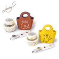 【Hiromimi】LINE FRIENDS 不鏽鋼保鮮碗3件組附餐具(共四盒兩袋)