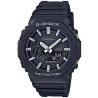 【CASIO 卡西歐】G-SHOCK 八角農家橡樹雙顯手錶(GA-2100-1A)