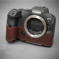 Vintage Canon R5 R6 Case Handmade Genuine Leather Camera case Half Body For Canon R5 R6