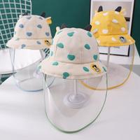 嬰兒防護帽防飛沫寶寶帽子兒童隔離遮臉防疫面罩新生嬰幼兒漁夫帽 台灣現貨 總代理 保固 可開發票--防疫帽子