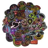 50 PCS Neon Lightสติกเกอร์อะนิเมะไอคอนสัตว์น่ารักสติ๊กเกอร์ของขวัญเด็กกระเป๋าเดินทางแล็ปท็อปกีตาร...