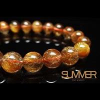 【SUMMER寶石】天然紅銅鈦晶手珠《 20g 》以上(隨機出貨)