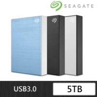 【SEAGATE 希捷】One Touch 5TB 2.5吋外接硬碟(極夜黑/星鑽銀/冰川藍)