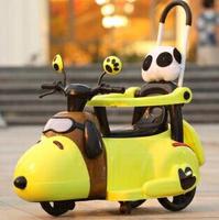 電動車 新款電動摩托車三輪車6個月6歲輕便手推車小孩充電可坐玩具車TW【8號時光限時八折】 8號時光