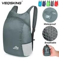 15L พับกระเป๋าเป้สะพายหลังพับได้ Ultralight กระเป๋าเป้สะพายหลังเดินทางกระเป๋า Daypack กีฬา Daypack สำหรับผู้...