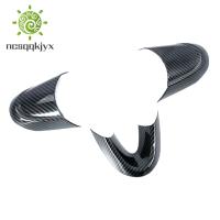 適用於寶馬的3件汽車碳纖維風格方向盤蓋飾板-Mini Cooper F54 F55 F56 F57 F60