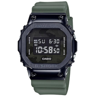 【CASIO 卡西歐】卡西歐G-SHOCK多時區鬧鈴電子錶-黑 X 綠(GM-5600B-3)
