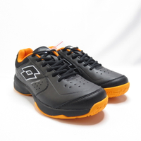 LOTTO SPACE 600 網球鞋 透氣 LT0AMT2230 男款 黑橘【iSport愛運動】