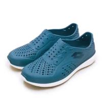 【LOTTO】男 晴雨穿搭戶外休閒運動涼鞋 ROVER洞洞鞋系列(藍 2616)