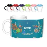 Axie Infinity Ceramic Mugs Coffee Cups Milk Tea Mug Axie Infinity Crpytocurrency Axie Token Discord Axie Pet Game Blockchain