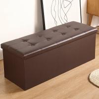 床尾凳 收納凳子儲物凳家用可坐成人椅小沙發長方形換鞋凳床尾收納箱神器 【WY741】