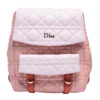【Dior 迪奧】經典STARDUST系列小羊皮拼接手提/後背包(粉紅色M1504PVQT)