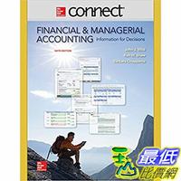 [106美國直購] 2017美國暢銷軟體 Connect 2 Semester Access Card for Financial and Managerial Accounting