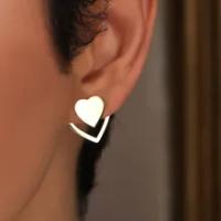 2021ใหม่เงินทองหัวใจต่างหูผู้หญิง Vintage Punk Hollow ต่างหูขนาดเล็กแฟชั่นเครื่องประดับของขวัญ