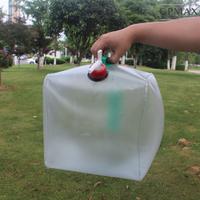手提式20公升摺疊儲水桶 摺疊蓄水桶 家庭儲備用水袋 戶外露營折疊水桶
