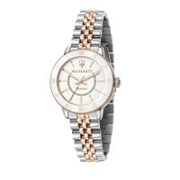 【MASERATI 瑪莎拉蒂】SUCCESSO LADY 光動能玫瑰金質感腕錶32mm(R8853145504)
