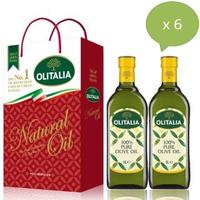 【Olitalia 奧利塔】超值純橄欖油禮盒組(1000mlx12瓶-6禮盒裝)