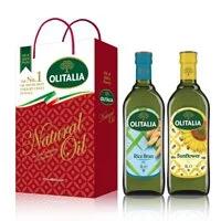 【Olitalia奧利塔】玄米油+葵花油禮盒組(1000mlx2瓶)
